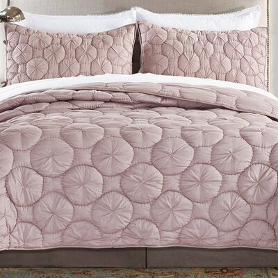 Dream Waltz Quilt Size: Queen, Color: Light Marsala