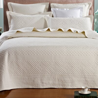 Saint Luxury Pure Cotton Quilt Size: Queen