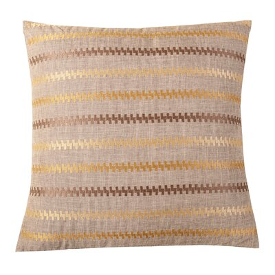 Stripe Embroidered Decorative Throw Pillow