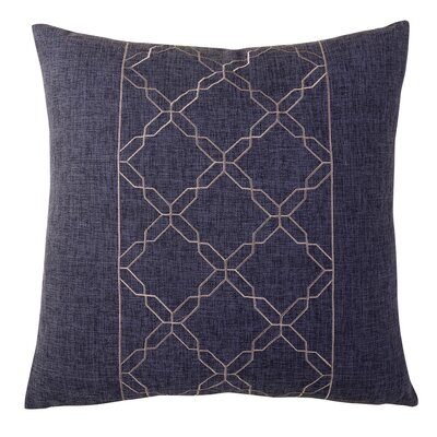 Cross Chain Throw Pillow Color: Gray