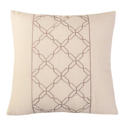 Cross Chain Throw Pillow Color: White