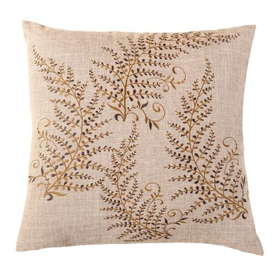 Magic Trees Embroidered Throw Pillow Color: Brown