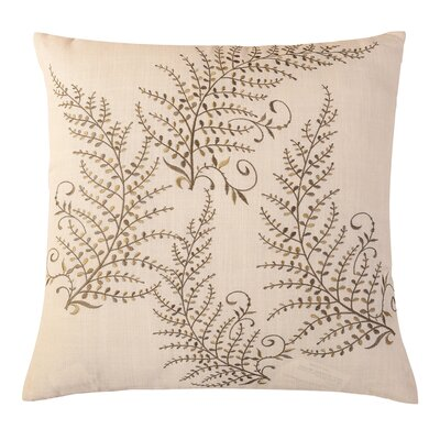 Magic Trees Embroidered Throw Pillow Color: White