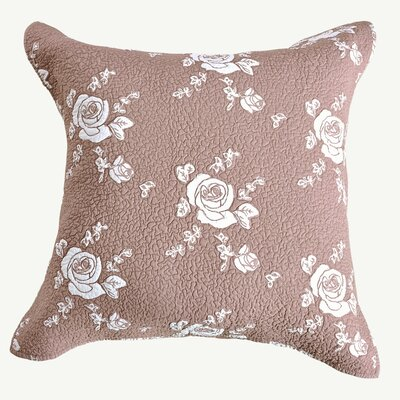 Rose Melody Sham Size: Euro, Color: Marsala