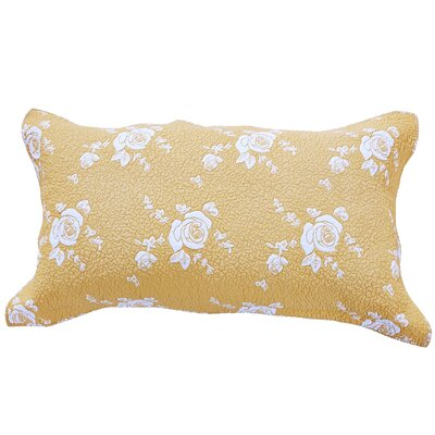 Rose Melody Sham Size: King, Color: Gold