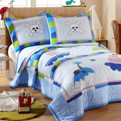 Little Pirate 2 Piece Twin Quilt Set