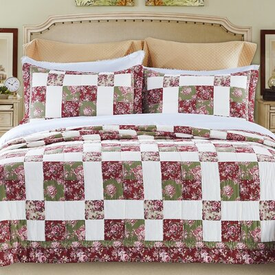 Rowland Patchwork 3 Piece Queen Quilt Set