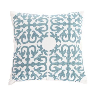 Embroidery Eastern Throw Pillow Color: Blue