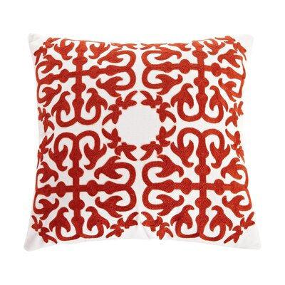 Abbey Embroidery Eastern Throw Pillow Color: Red