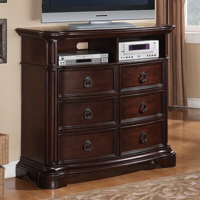 Lavon Lake 6 Drawer Media Chest