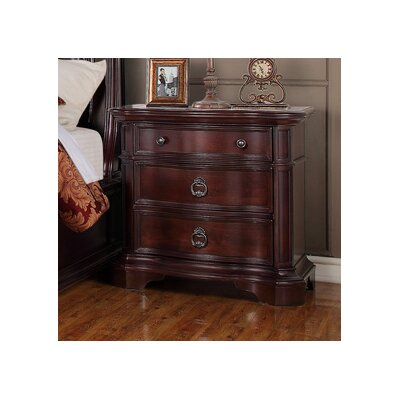 Lavon Lake 3 Drawer Nightstand