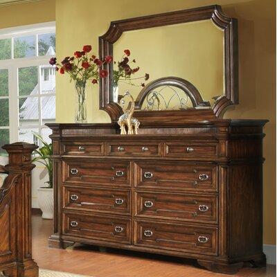 Highland Ridge 9 Drawer Dresser with Mirror