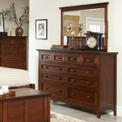 Beacon Street 10 Drawer Dresser with Mirror
