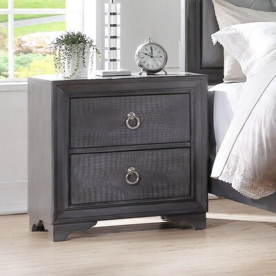 Florine 2 Drawer Nightstand
