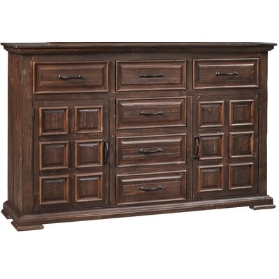 High Chaparral 6 Drawer Combo Dresser