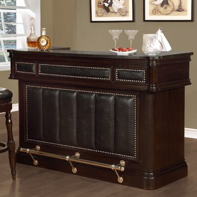 Maxson 3 Drawer 4 Door Bar with Wine Storage