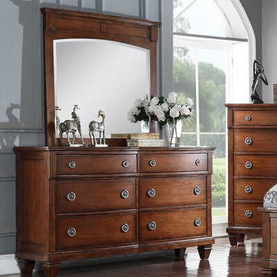 Camacho 6 Drawer Double Dresser with Mirror