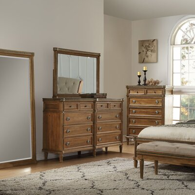 Haledon 8 Drawer Dresser with Mirror