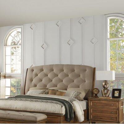 Haledon Upholstered Sleigh Headboard Size: Queen