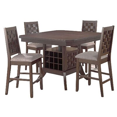 Cavas-Mitson Walnut Gathering 5 Piece Counter Height Dining Set