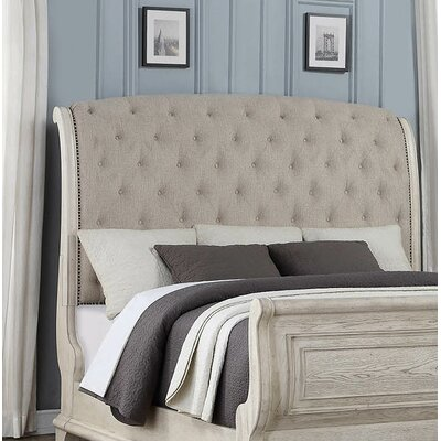 Piland Upholstered Sleigh Headboard Size: King