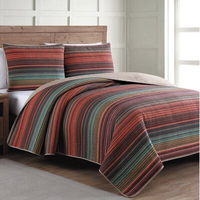 Estate Reversible Quilt Set Size: King, Color: Multicolor