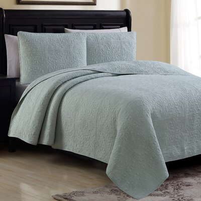 Estate Colmar Quilt Set Color: Seafoam, Size: Full/Queen