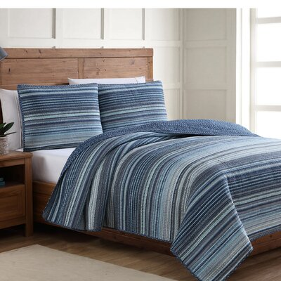 Estate Reversible Quilt Set Size: Twin, Color: Blue