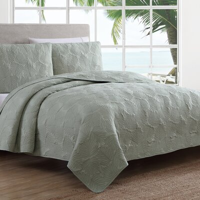 Estate Leaf Stitch II Quilt Set Size: Full/Queen