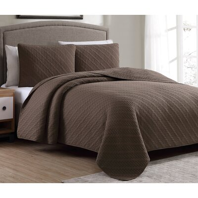 Estate Quilt Set Size: King, Color: Chocolate