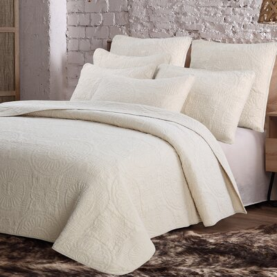 Pericles Avani Quilt Set Size: King, Color: Cream