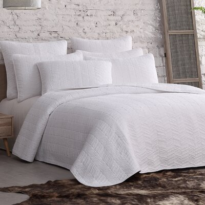Roman Bleeker Quilt Set Size: Full/Queen, Color: White
