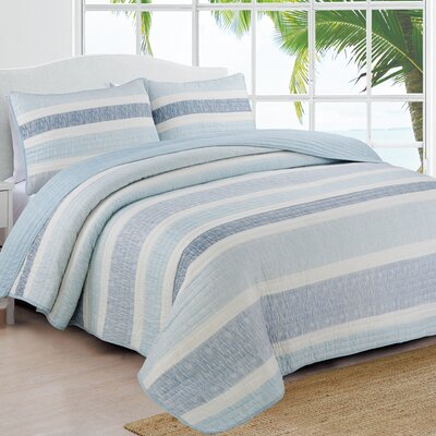 Phillips Quilt Set Color: Blue, Size: Full/Queen