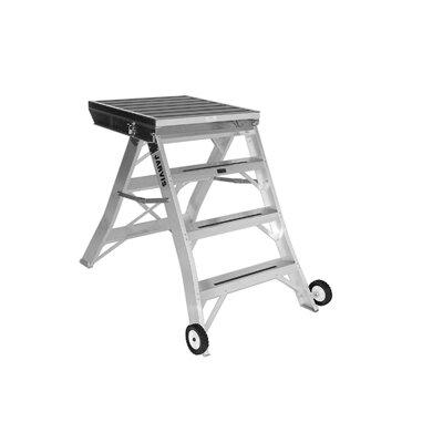 3.5 ft Aluminum Model 7 Podium Rolling Ladder with 200 lb. Load Capacity Finish: Aluminum 1093-2