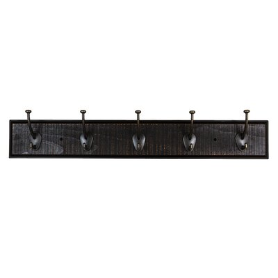 Rustic Coat Hook Rail Finish: Ebony