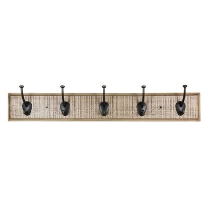 Rustic Coat Hook Rail Finish: Antique White