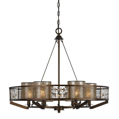 Johnstown 6-Light Shaded Chandelier