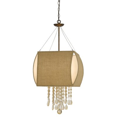 Saul 4-Light Crystal Chandelier