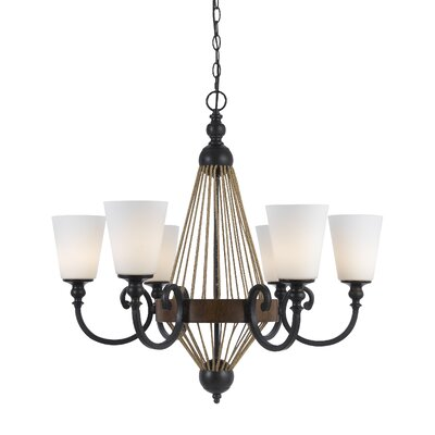 Megan 6-Light Shaded Chandelier