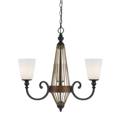 Megan 3-Light Shaded Chandelier