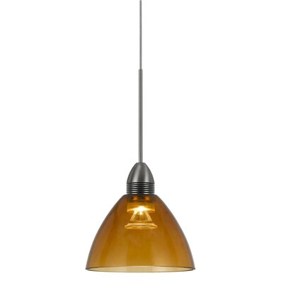 Winchester 1-Light Mini Pendant Base Finish: Amber