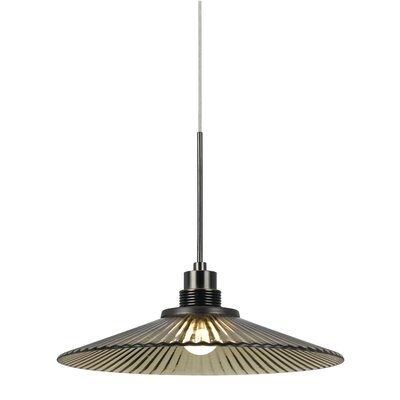 Brendale 1-Light Mini Pendant Base Finish: Amber