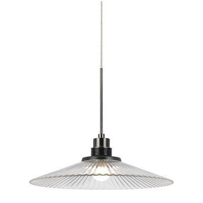 Brendale 1-Light Mini Pendant Base Finish: Clear