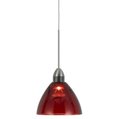 Winchester 1-Light Mini Pendant Base Finish: Red