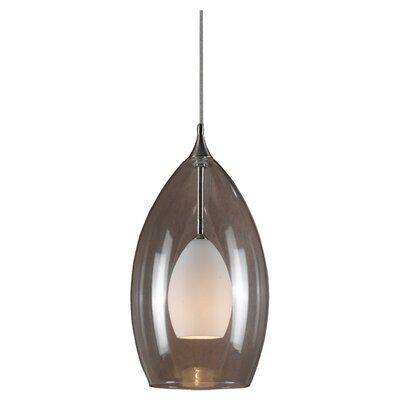 Colton Pendant Finish: Brushed Steel with White
