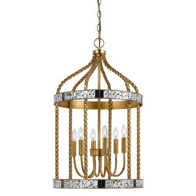 Morden 6-Light Foyer Pendant