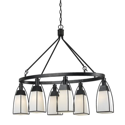 Keene 6-Light Shaded Chandelier