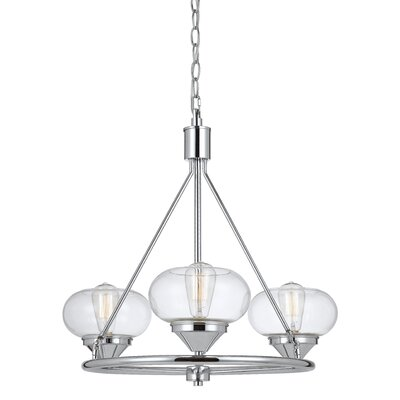 Webster 3-Light Shaded Chandelier