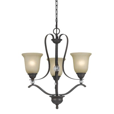 Adelbert 3-Light Shaded Chandelier
