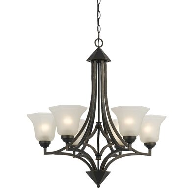 Marci 6-Light Shaded Chandelier